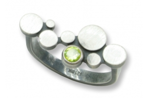 Ring Sterling Silber 925 oxidiert mit Peridot